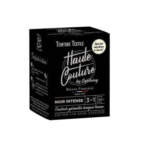 Teinture textile Haute Couture noir intense