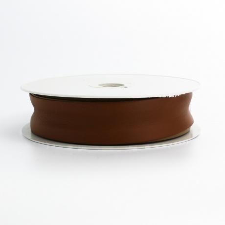 Biais simili cuir 7/25/7 marron foncé (+ -10m)