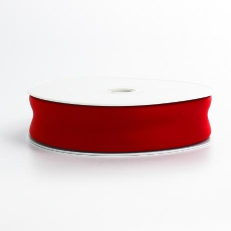 Biais simili cuir 7/25/7 rouge vif (+ -10m)