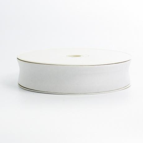 Biais simili cuir 7/25/7 blanc cassé (+ -10m)