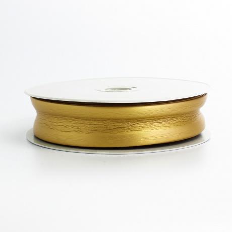 Biais simili cuir 7/25/7 doré (+ -10m)