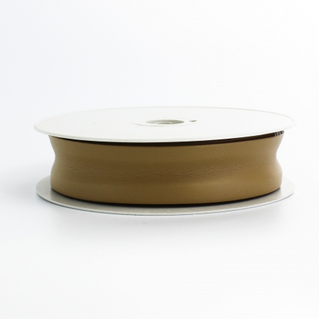 Biais simili cuir 7/25/7 beige foncé (+ -10m)