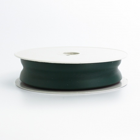 Biais simili cuir 7/25/7 vert foncé (+ -10m)