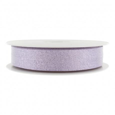 Biais pré-plié lamé 40/20 mm violet clair