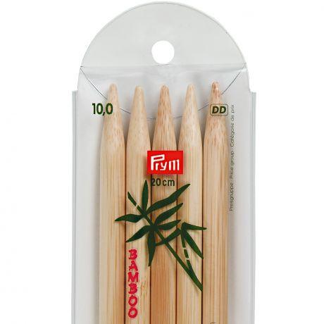 Aiguille tricot 2 pt bambou 20cm n°10