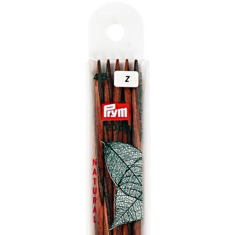 Aiguille tricot 2 pt bois natural 20cm n°4,5