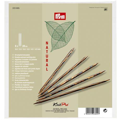 Set aiguille 2 pt bois natural 20cm n°2-4,5