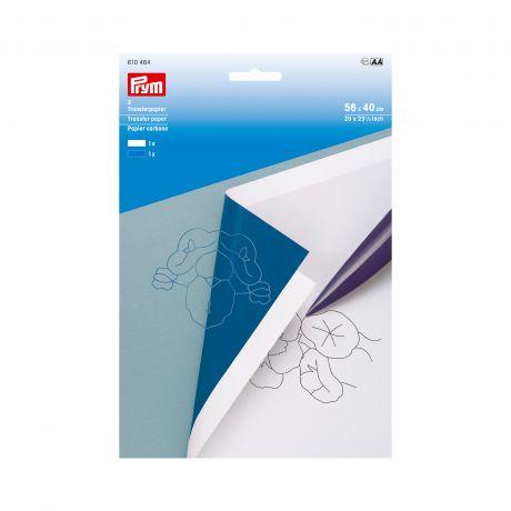 Papier carbone blanc/bleu