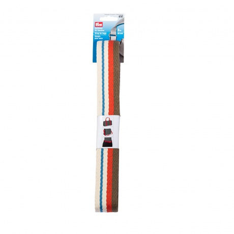 Sangle pour sac 40 mm naturelle multicolore