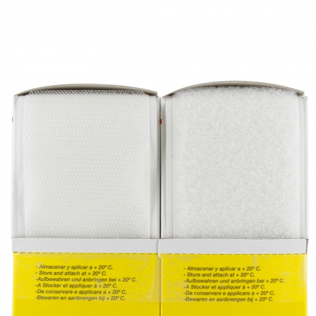 Ruban de la marque Velcro® -adh.2f- 50mm 5m blanc