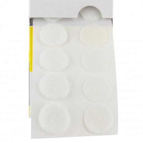 Pastille de la marque Velcro® adhésive 20mm blanc