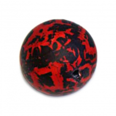 Perle 18mm rouge