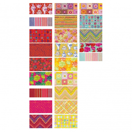 Fat quarter fabric bundle sunrise 23 pcs