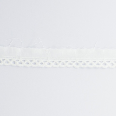 Broderie anglaise-metre-2cm blanc