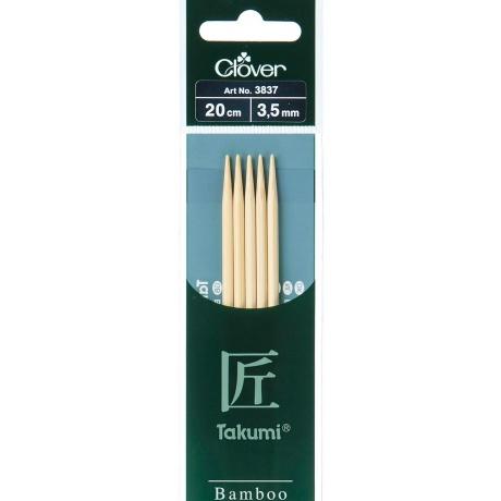 Aiguille tricot 2 pt bambou 20cm 3.50mm-