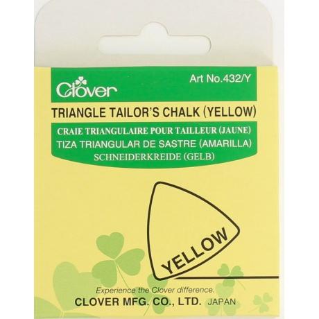 Craie triangulaire jaune
