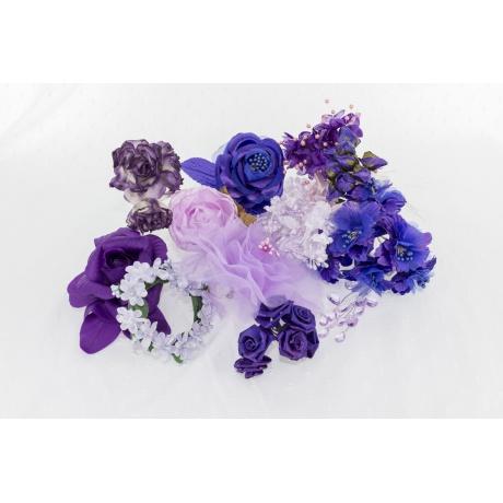 Assortiment de 10 modèles fleurs nuance violet