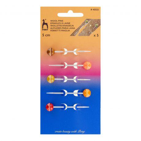 Epingles perles à laine - 5 cm - 5 pièces
