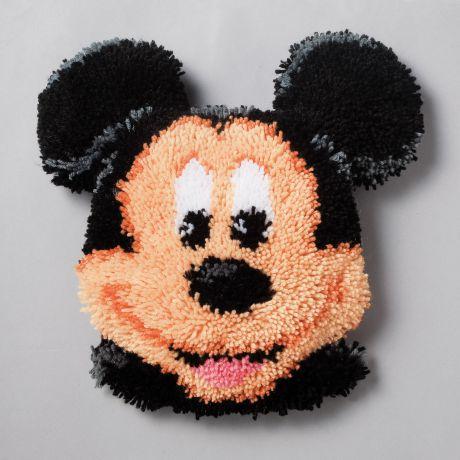 Coussin modelé au point noué mickey mouse