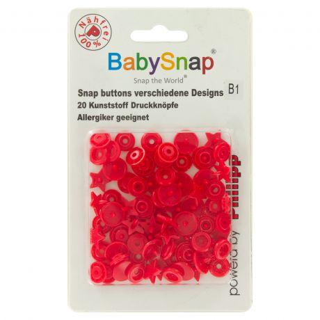 Bouton pression BabySnap® étoile rouge
