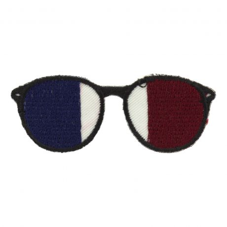 Thermocollant lunettes bleu/blanc/bordeaux