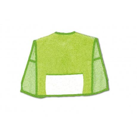 Bavoir tablier avec poche aida éponge vert