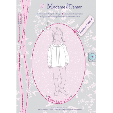 Patron Madame Maman tunique Camille de 2 à 6 ans