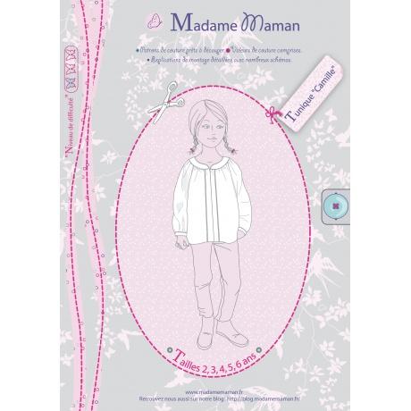 Patron Madame Maman tunique Camille de 8 à 14 ans