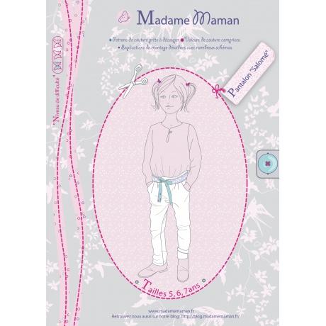 Patron Madame Maman pantalon Salomé 5-6-7 ans