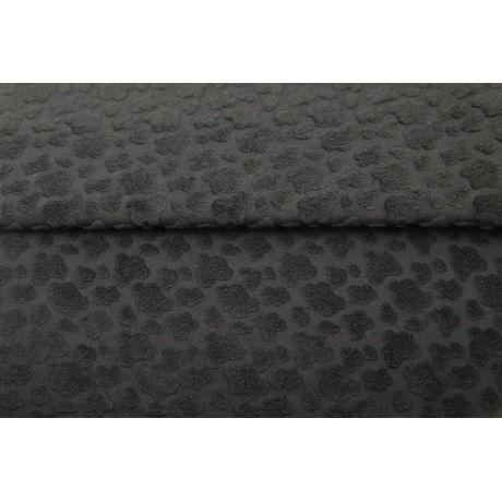Fantasy knitwear jacquard towel Stenzo noir