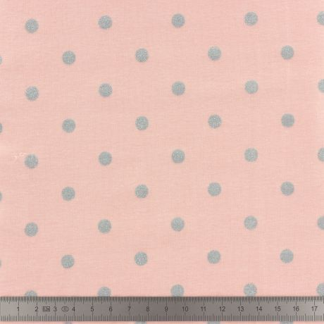Jersey Stenzo print dots with silver glitter