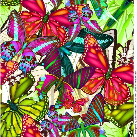 Jersey stenzo digital print butterfly