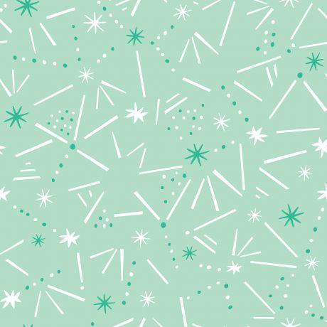 Tissu Dashwood ditsies stars mint