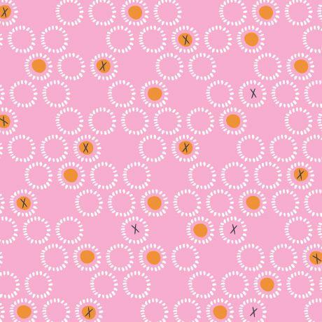 Tissu Dashwood ditsies circles rose