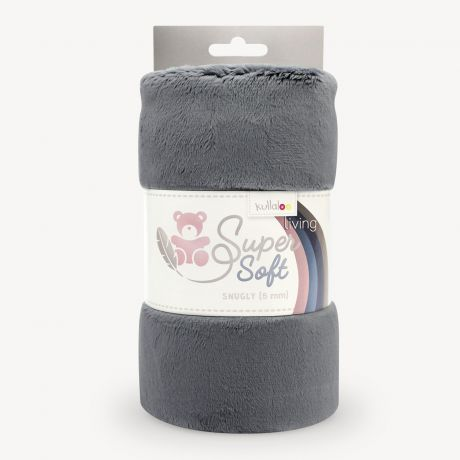 Tissu peluche Kullaloo snugly 5 mm gris