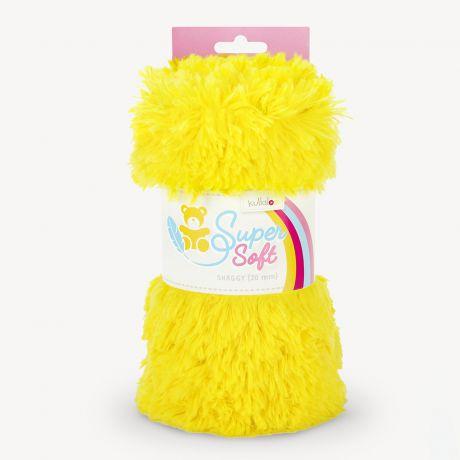 Tissu peluche Kullaloo shaggy 20mm jaune