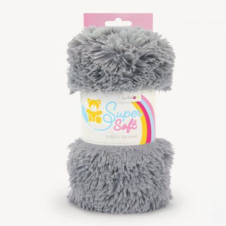 Tissu peluche Kullaloo shaggy 20mm gris