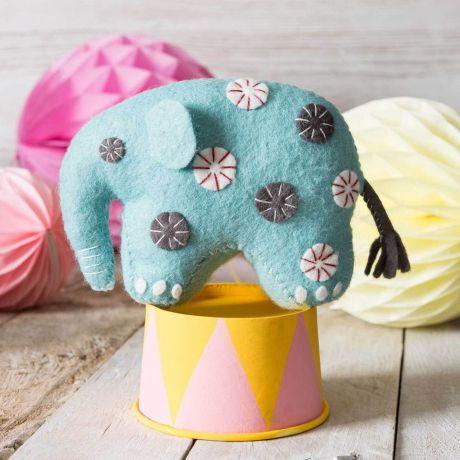 Kit feutrine éléphant bleu