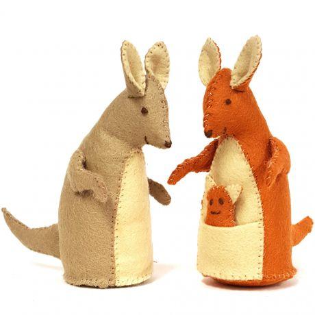 Kit feutrine la famille kangourou