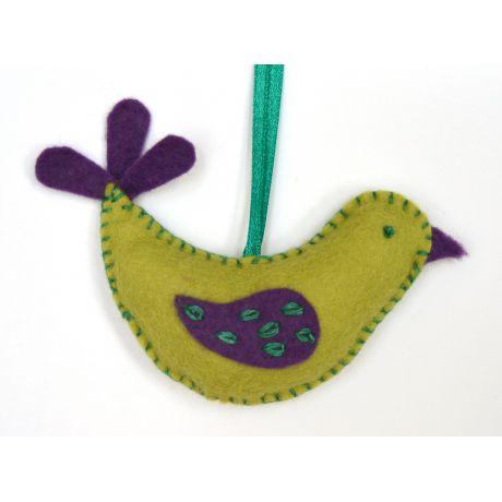 Mini kit feutrine l'oiseau vert