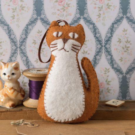 Mini kit feutrine chat roux