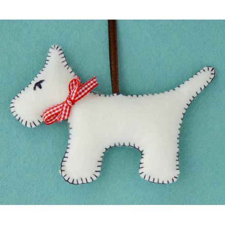Mini kit feutrine le chien blanc