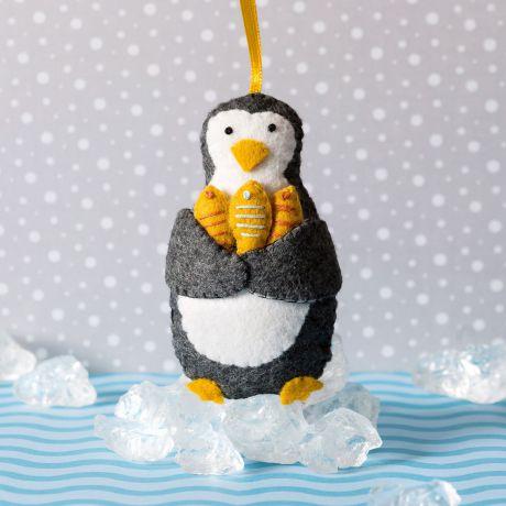 Mini kit feutrine petit pingouin pêcheur