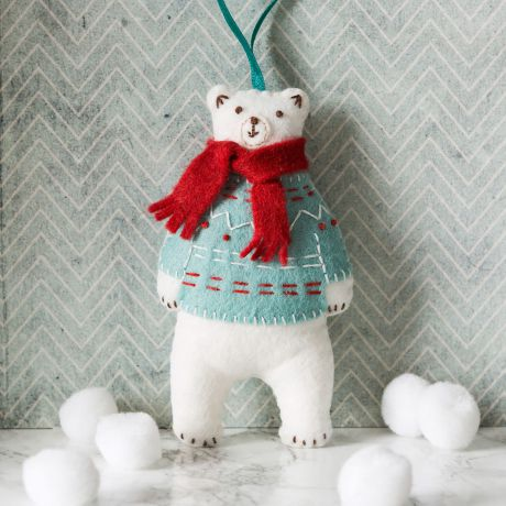 Mini kit feutrine l'ours blanc