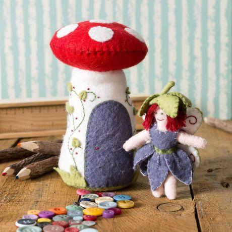 Mini kit feutrine champignon coussin à épingles