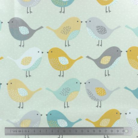 Tissu enduit Fryett's birds ocre