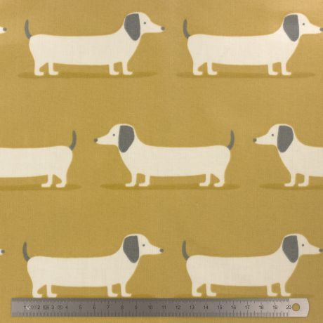 Tissu enduit Fryett's hound dog ocre