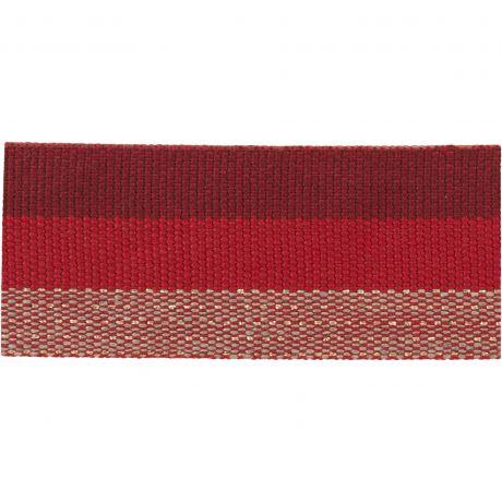 Ruban lin multicolore fil doré 30mm