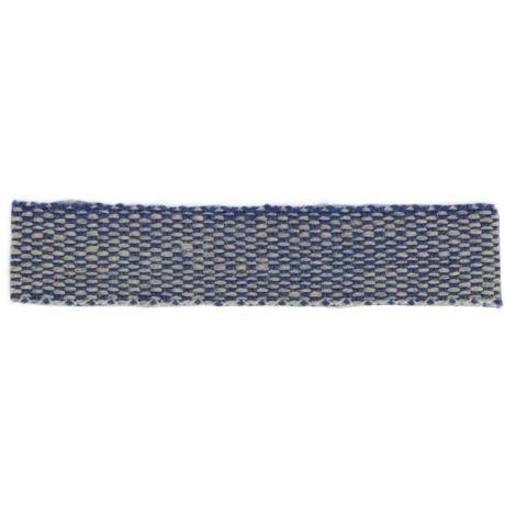 Ruban lin acrylique marine et lin 10 mm