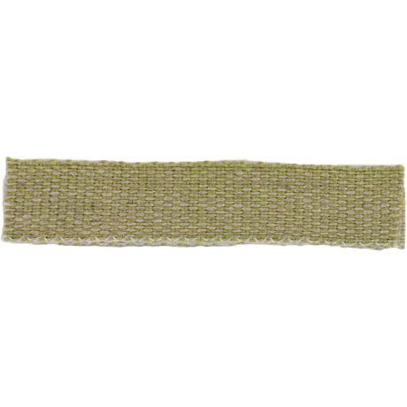 Ruban lin acrylique kaki et lin 10 mm